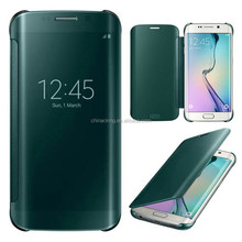 For Samsung Galaxy S6 Clear Case Auto Sleep Wake Mirror Flip Leather Cases