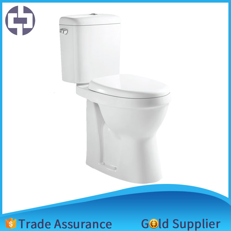 Extended height 480 mm America style ceramic sanitary ware bathroom side single button two piece WC toilet bowl water closet