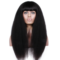 Trade Assurance Qingdao Premier Lace Wigs Glueless Lace Front Wig With Hair Bang