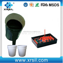 Liquid two parts silicone rubber for electronic potting