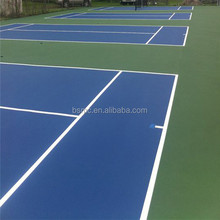 User friendly design polyurethane sports surfaces plastic flooring tennis court with ITF certificate