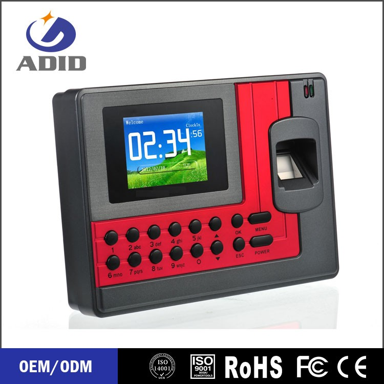 high quality Time Attendance management System with backup battery C111