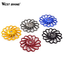 WEST BIKING 13T MTB Ceramic Bearing Jockey Wheel Road Bike Ceramic Pulley CNC Aluminum Alloy Bicycle Rear Guide Wheel