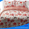 flower print fabric/Polyester Bright printing fabric/peach skin bedding set