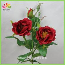 "18.5"" Artificial Red Rose, White Wedding Rose, Decorative Rose Flower"