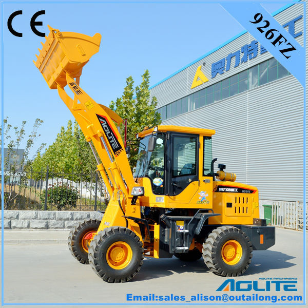 AOLITE 926FZ mini wheel loader with Yunnei 490 engine