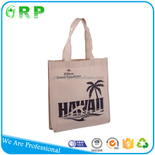 Customized printing eco recycle fabric promotion shopping bag in non woven material