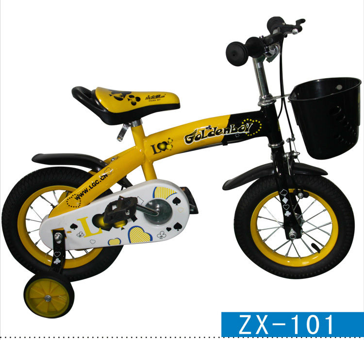 "12""-16""yellow kids bikes with basket high quality ZX-101"