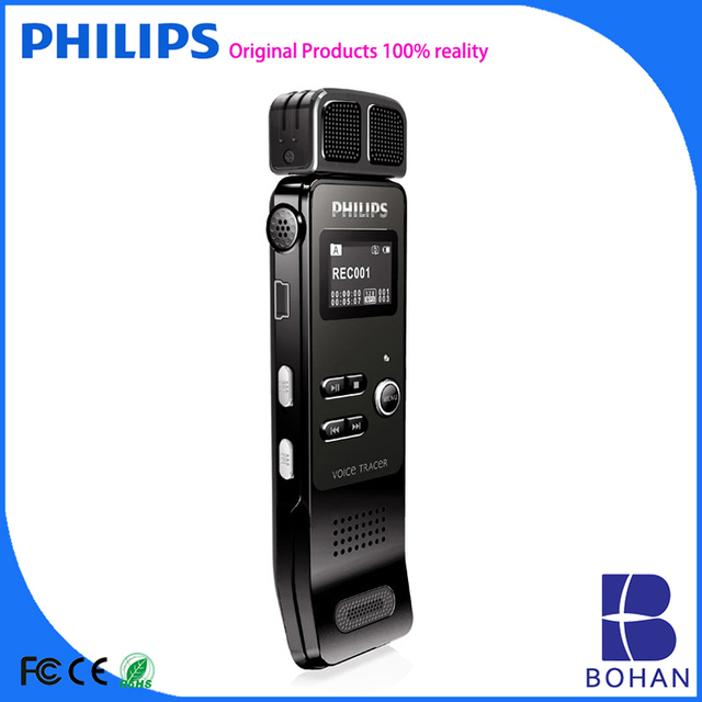 PHILIPS Professional Flash Drive 8GB Pen 2160hours Recording Time Dictaphone Mini Pen Digital Voice Recorder