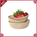 Round shape knitted basket for supermarket display from manufacture