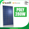 TUV IEC certified Bluesun 280wp poly solar panel from China for power plant