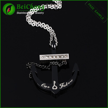 Cheap wholesale jewelry for men stainless steel anchor pendant
