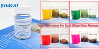 Color removal chemical for textile dyeing wastewater treatment