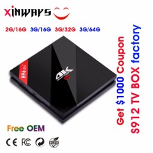 Certification Complete Amlogic S912 H96 pro plus Octa Core TV BOX Factory