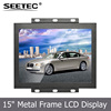 15 inch open frame tft lcd monitor HDMI S-video input industrial field custom display