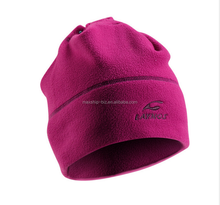 cheap winter fleece beanie with custom embroidery logo