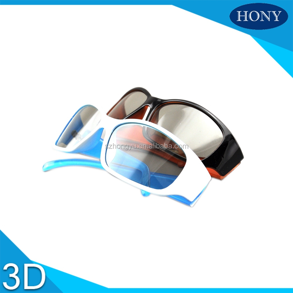 2 Tone Color Frame With Linear Polarized Film 3D Eyewear - HONY3D