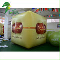 3m Yellow Helium Square Cube Balloon , PVC Inflatable Floating Advertising Balloon For Sale