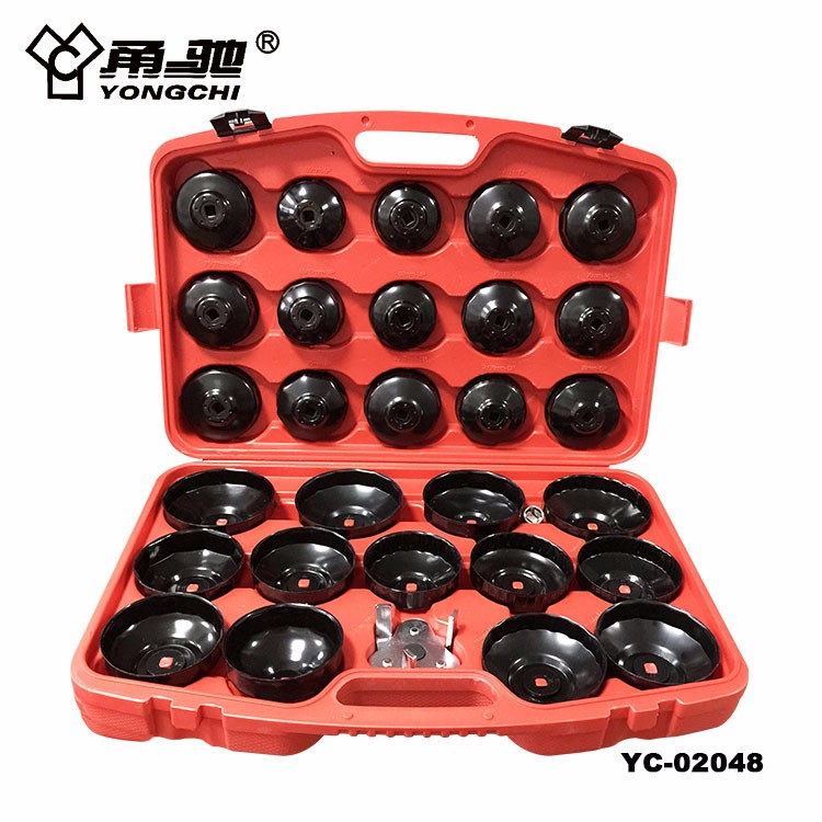 30pcs cup style oil filter wrench set for car repair tool