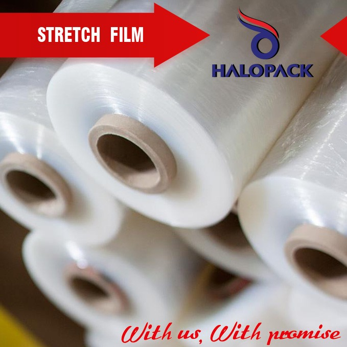 pallet wrapped LDPE stretch film