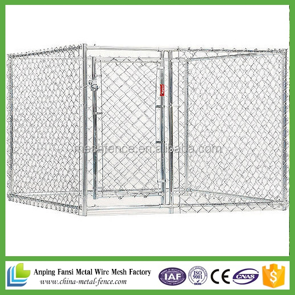 2016hot sale chain link wire mesh 6x10x6 dog kennels