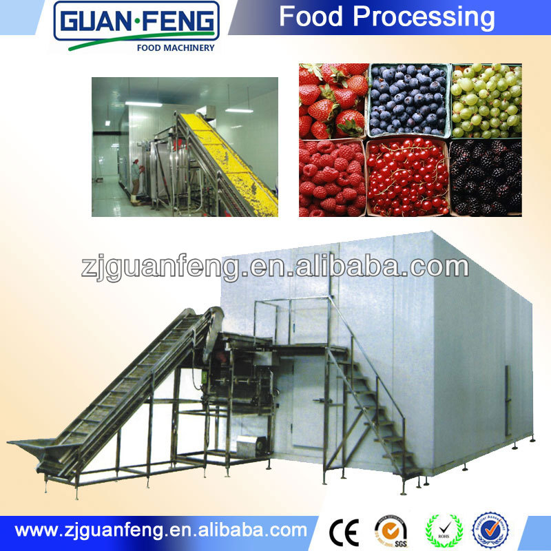 fluidized quick freeze machine and IQF freezer frozen french fries production line