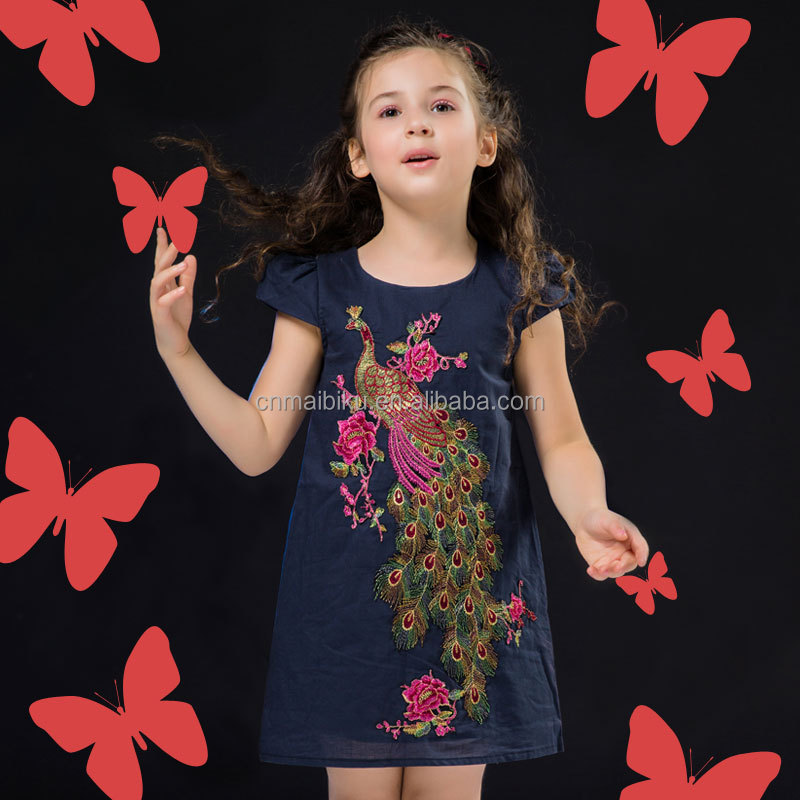 Summer 2016 New Baby Girls Embroidery Dresses Princess