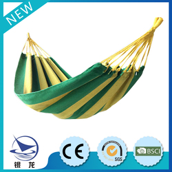 Outdoor portable Safety & comfortable stripe style single hammock