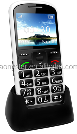 2.2 inch single sim SOS button big keyboard mobile phone for elderly