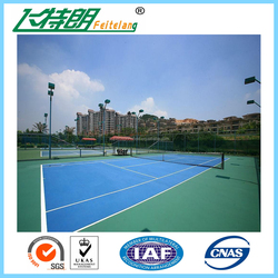 ISO18001 certificated Tennis Court , acrylic acid polymer , acrylic tennis court coating