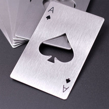 Stainless Steel Casino Poker Shaped Credit Card beer Bottle Opener