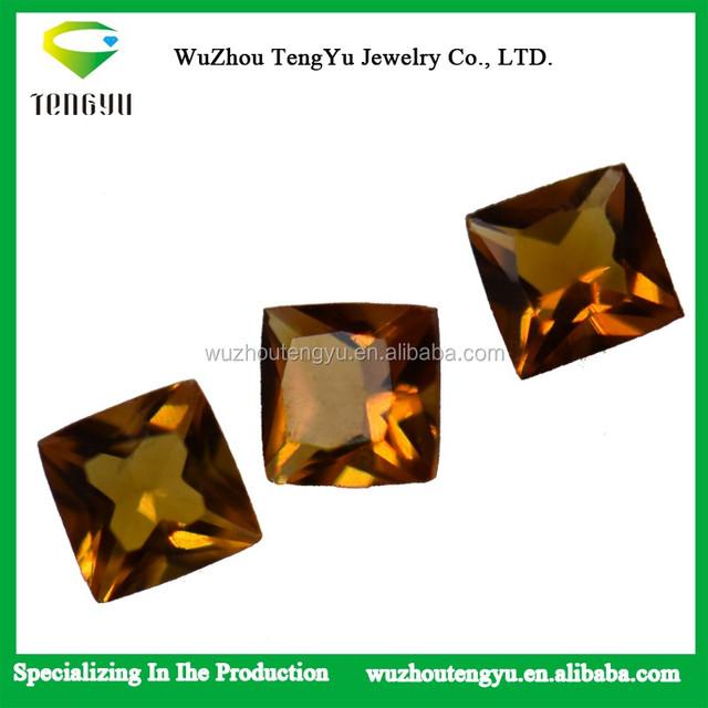 Citrine princess cut loose gemstone Yellow citrine Natural Stone Pieces