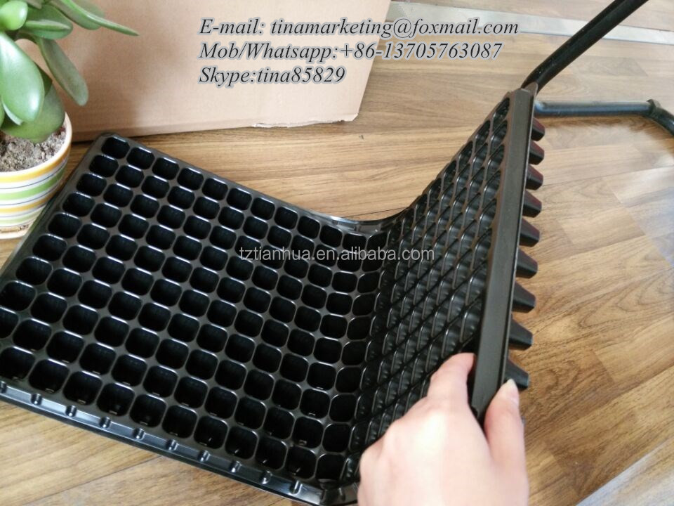 200 Cell HIPS Plastic Plant Plug Seed Starting Grow Germination Tray for Greenhouse Vegetables Nursery Propagation