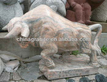 stone bull carvings