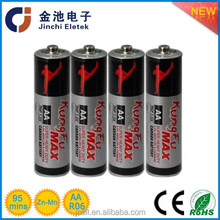 Kungfu brand carbon zinc 1.5v r6 um3 aa dry cell battery