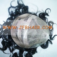 Human Hair Black which can be colored and gray hair mixed color natural looking men's toupee
