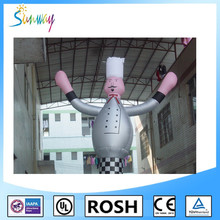 Advertising Sunway Inflatable Chef Air Dancer,Sky Dancer,Chef Model for Catering