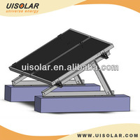 Aluminum Adjustable Triangle Solar Panel Mounting Flat Concrete Roof