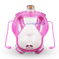Hot sale eco-friendly silicone easy to breath 180 seaview camera mount snorkel kids diving mask