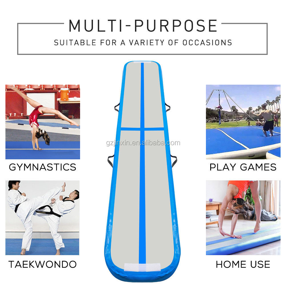 Inflatable Airbeam Mattress Gym Training Equipment Bouncing Balance Beam Air Track Mat Inflatable Gymnastics