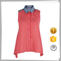Wholesale clothing Top-end Fashion Casual blouse designs fat ladies