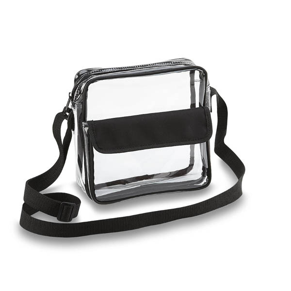 Custom Clear Cross-Body Messenger Shoulder Bag