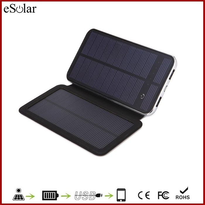High Quality mobile solar charger with foldable solar panel , cheapest 10000mAh solar sun charger mobile for smartphone iphone