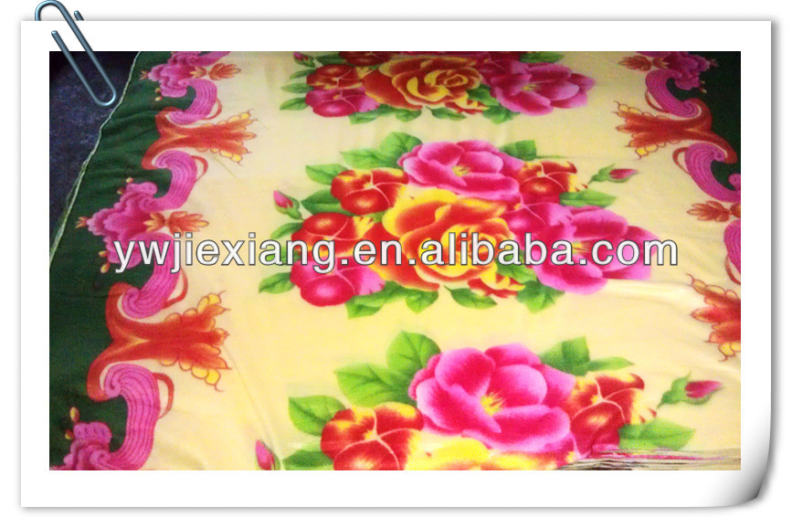 FLOWER PRINTED TWO SIDES BRUSHED 100 POLYESTER POLAR FLEECE FABRIC