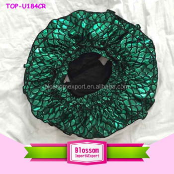 2016 Wholesale Cheap Ruffle Cabi Clothing Green Fish Scale Baby Girls Around Ruffle Mermaid Bloomers