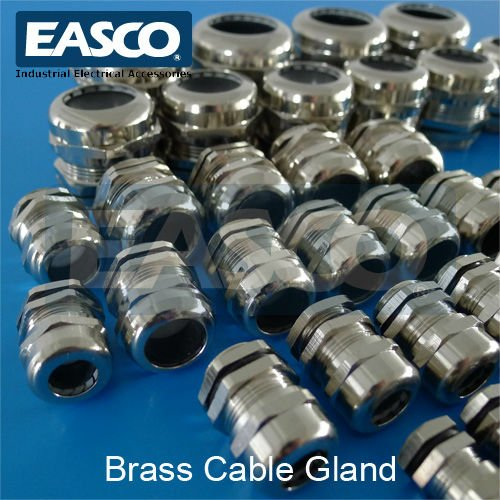 EASCO Strain Relief Brass Cable Gland