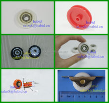 Manufacture small nylon wheels with bearings factory price sliding door nylon wheels