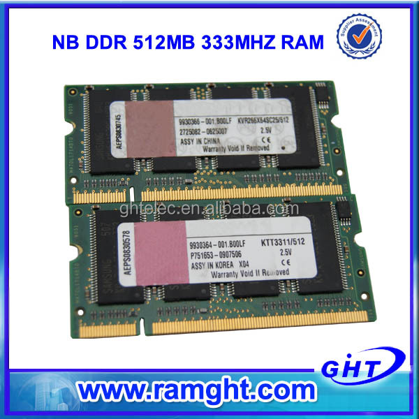 Lifetime warranty tested 32mb*8 ddr 512mb ram used electronics export