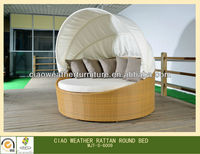 Factory Manufacturer Direct Wholesale Lounge Suit with Canopy Rattan Luxury Outdoor Furniture