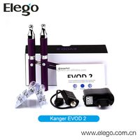 Kanger Double Kits EVOD 2 Starter Kit with NEW Upgrade Dual Coil and Nice Packaging